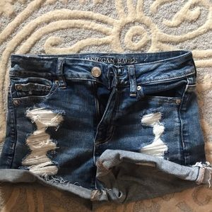 American Eagle high rise shortie shorts